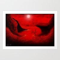 Redvein Art Print