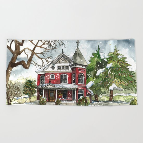 Snowfall Beach Towel