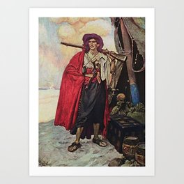 """Handsome Buccaneer"" by Howard Pyle Art Print"