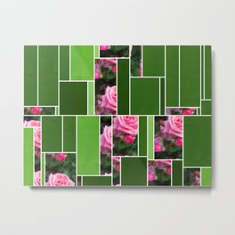 Pink Roses in Anzures 1 Art Rectangles 12 Metal Print