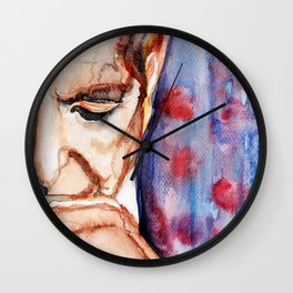 I'm Your Man, illustration by Ines Zgonc Wall Clock
