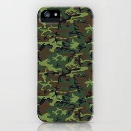 U.S. Woodland Camo iPhone Case