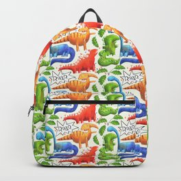 Colored dino Backpack