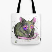 rat Tote Bags featuring Rat by Bwiselizzy
