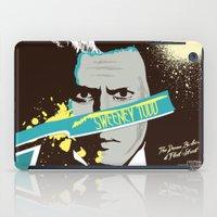 tim shumate iPad Cases featuring Tim Burton's Sweeney Todd by Luis Urrutia
