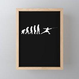 Fencing Evolution Fencer Sport Framed Mini Art Print