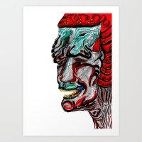 Akaname Art Print