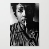 dylan Canvas Prints featuring Dylan by Susa Diaz