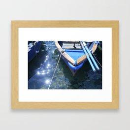 Italian boat Framed Art Print