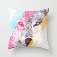 eric fan Throw Pillows featuring Wild 2 by Eric Fan & Garima Dhawan by Garima Dhawan