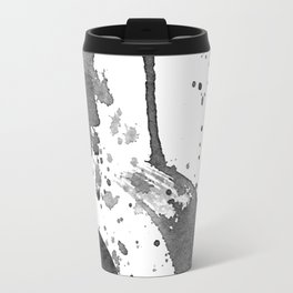 Minimal Brushstrokes Abstract Painting Travel Mug