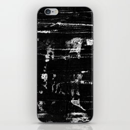 Distressed Grunge 102 in B&W iPhone Skin