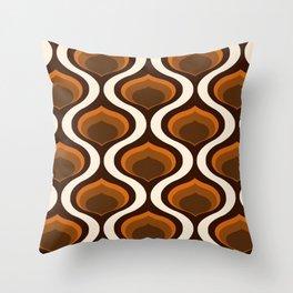 70's Retro Chic Geometric Pattern Throw Pillow