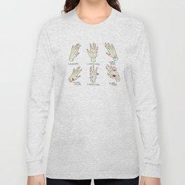 Open Wound Types Long Sleeve T-shirt