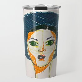 Blue Hat Girl Travel Mug