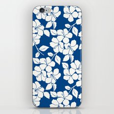 Hibiscus Floral: Marine Blue iPhone & iPod Skin