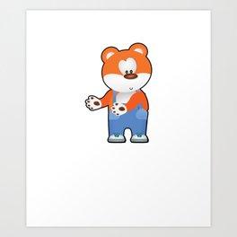 Floss Dance Move Bear Art Print
