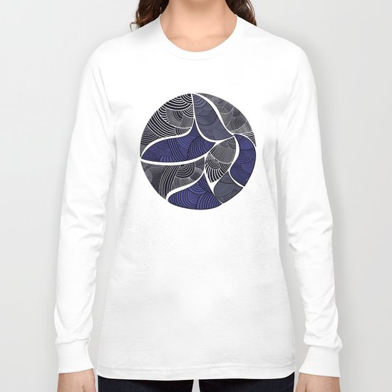 circle blue and grey Long Sleeve T-shirt