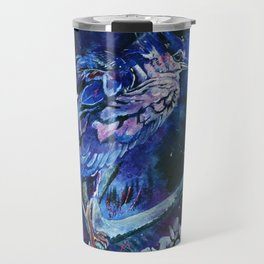 Dark-crowned Night Heron and Tamarisk Travel Mug