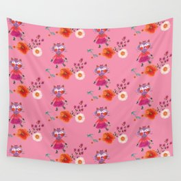 Mademoiselle Pink Wall Tapestry