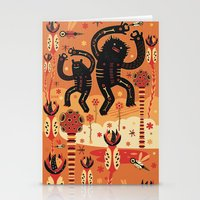 bruno mars Stationery Cards featuring Les danses de Mars by Exit Man