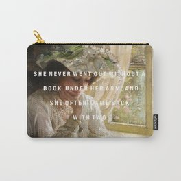 never without a book Carry-All Pouch