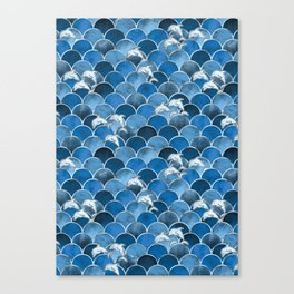 Wave Jumpers (Blue) Canvas Print