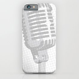 Grey Microphone Background iPhone Case