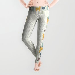 Going To The Dogs Plaid Terriers Leggings
