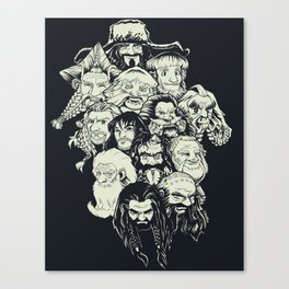 Manga Dwarves Canvas Print