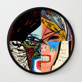 Quatre portraits en un Wall Clock