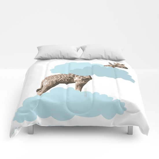 Giraff in the clouds . Joy in the clouds collection Comforters