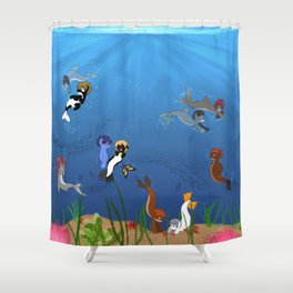 Free Eternal Summer Pony All together Shower Curtain