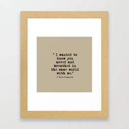 Fitzgerald Quotes Framed Art Print