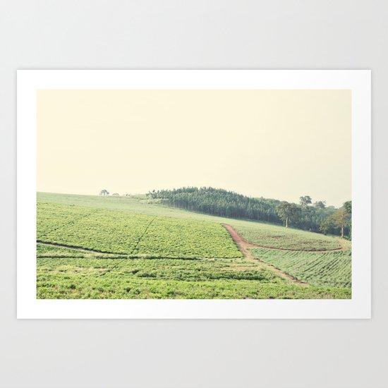 on the hill::uganda Art Print