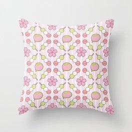 Hanami Nummies | Blush Throw Pillow