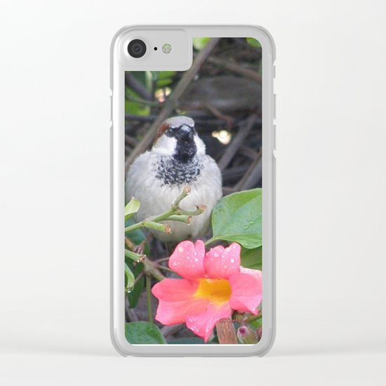 Sparrow in the Vine Clear iPhone Case