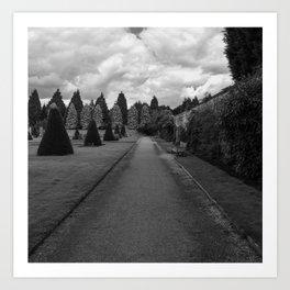 Newstead Abbey Country Garden Gravel Path Art Print