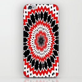 Bizarre Red Black and White Pattern iPhone Skin