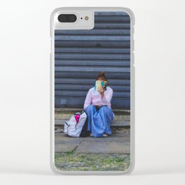 PHOTOGRAPHY - A book is a dream Clear iPhone Case