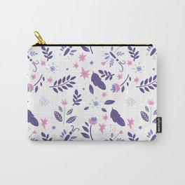 purple and pink flora Carry-All Pouch