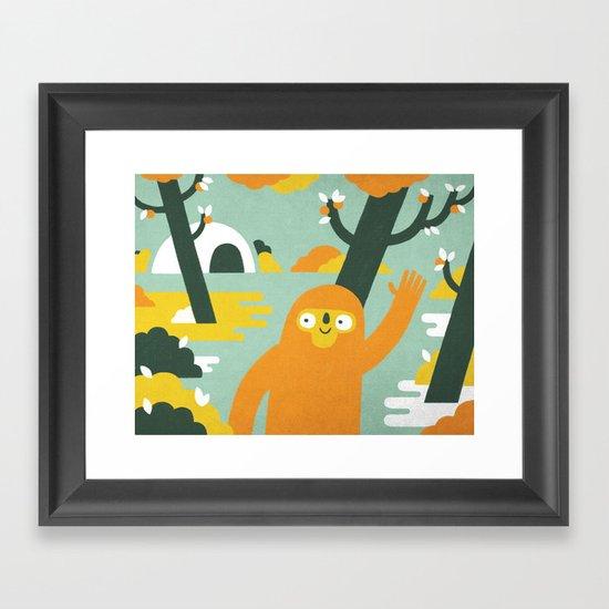 Mango Hunter Framed Art Print