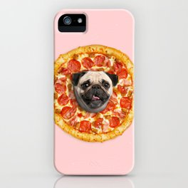 Pug Lover Pizza iPhone Case