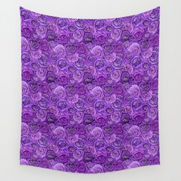 valentines roses in purple / ultraviolet Wall Tapestry