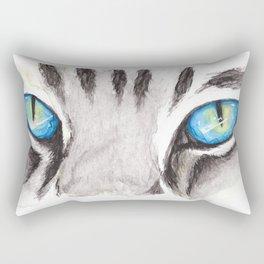 Blue Cat Eyes Rectangular Pillow