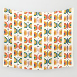 Retro Butterflies Wall Tapestry