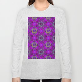Abstract Flower Pattern AAA RRR B Long Sleeve T-shirt