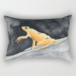 Golden frog Rectangular Pillow