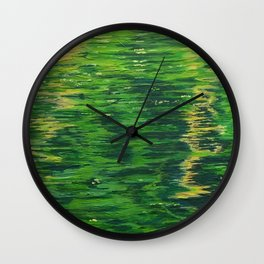 Reflection on the Pond Wall Clock
