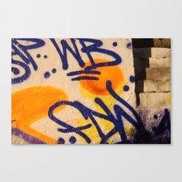 sunset graffitti nyc Canvas Print